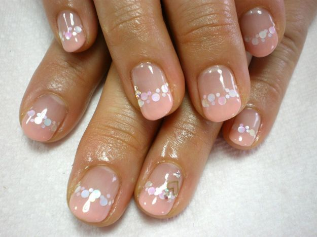 Бежевый французский маникюр на коротких ногтях ::: onelady.ru ::: #nail #nails #nailart #manicure