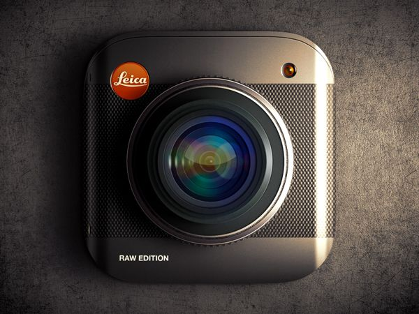 Leica Raw Edition iOS icon by Alex Bender, via Behance