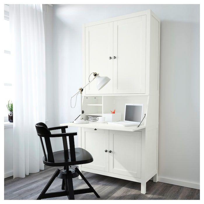 HEMNES Sekretär mit Aufsatz weiß gebeizt IKEA Deutschland