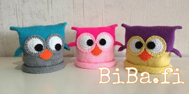 The Daily Knitter & Crocheter: Knit & crochet owl hat - step by step pattern