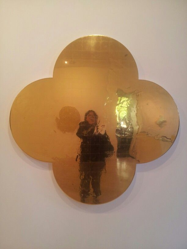 The Four Ways of Knowing,  2010 Gesso, Acrylic & Vinyl Polymers, Epoxy, Apuasize,  60 inch quatrefoil