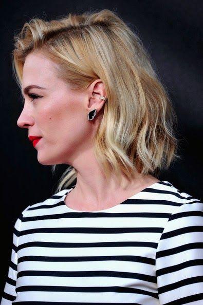 January Jones Medium Wavy Cut Hairstyle Picture
