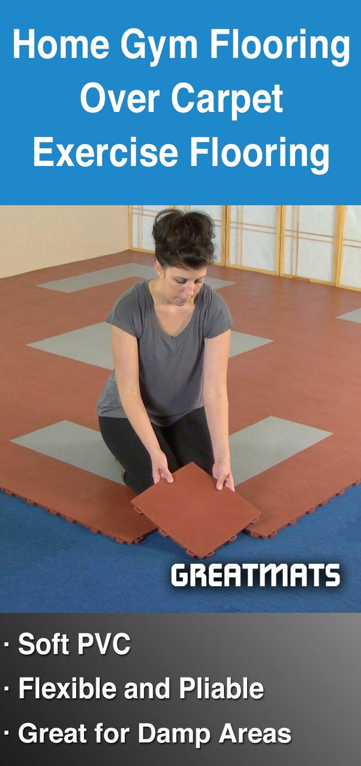 Staylock Tile Home Gym Floor Over Carpet Installation Ideas Options Gym Flooring Home Gym Flooring Workout Room Home