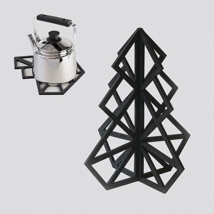 Treepot 3D trivet - Black from be&liv