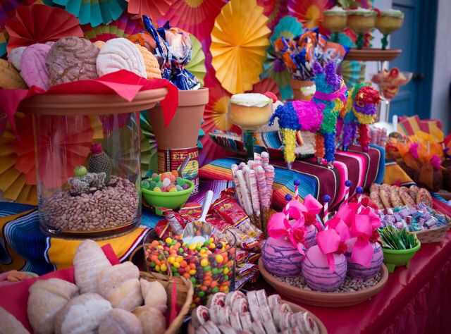 Fiesta theme party Dessert Table by Sweet Rubia