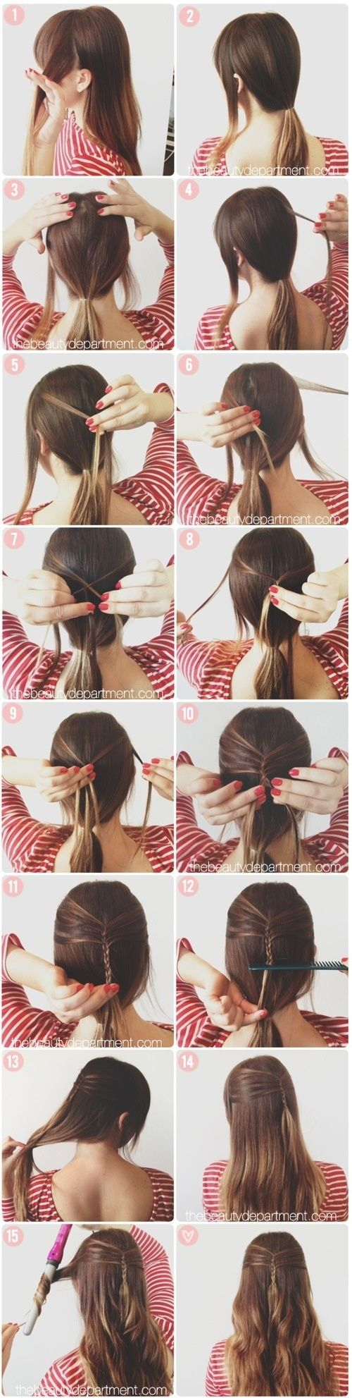 Add something different to your normal curled hair!