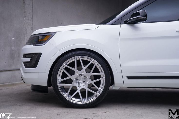 Discount Wheels on The new Ford Explorer is redesigned and confident. It has all the power with its Ecoboost V-6 engine, lots of space, and some style to boot. However, the team at MAD Industries took the crossover SUV to a new level of both style and prestige with their upgrade program featuring engine tuning, exterior upgrades, and new Niche Wheels. www.wheelhero.com
