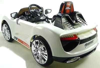 Porsche 918 Style 12v Electric Battery Powered KIds Ride on Child Toy Car White