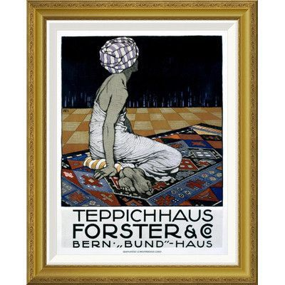 """Global Gallery 'Teppichhaus Forster & Co' by Burkhard Mangold Framed Painting Print Size: 36"""" H x 28.92"""" W x 1.5"""" D"""