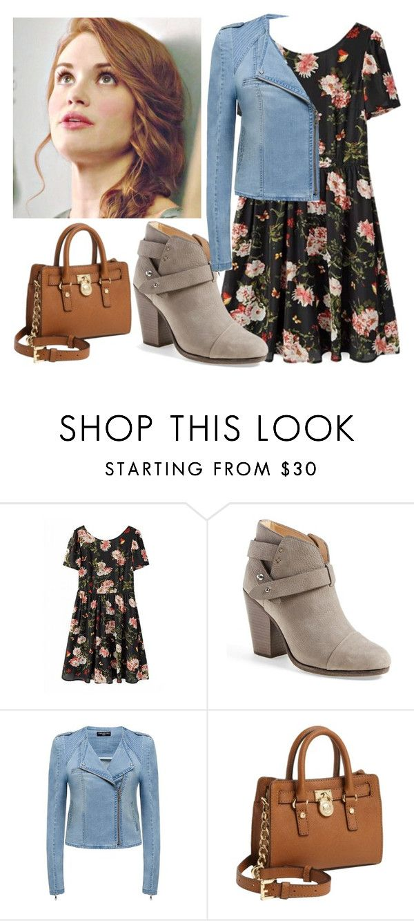 """""""Lydia Martin inspired outfit"""" by anna-maee ❤ liked on Polyvore featuring rag & bone, Forever New and Michael Kors"""