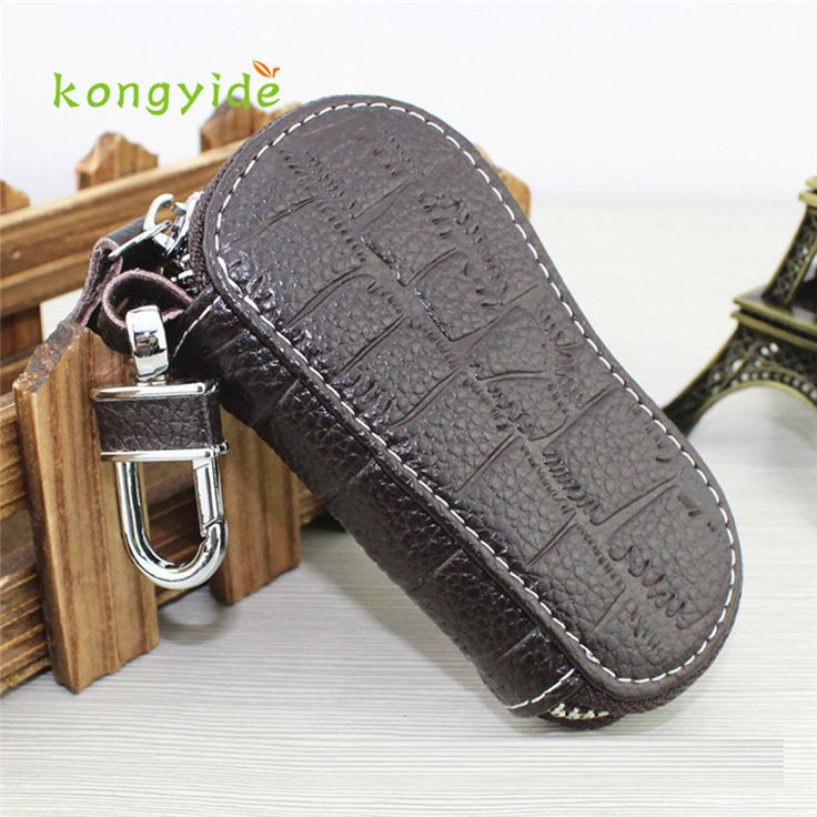 Leather Zipper Car Key Holder Bag Multifunction Coin Purse Card Package Chaveiro Titular de la llave gift handy styling 17july4 #Affiliate