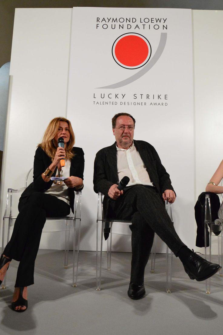 IX #LuckyStrike Talented #Designer Award. Jury Member Milena Mussi (#IosaGhini Associati) e Michael Erlhoff (Köln International School of #Design)