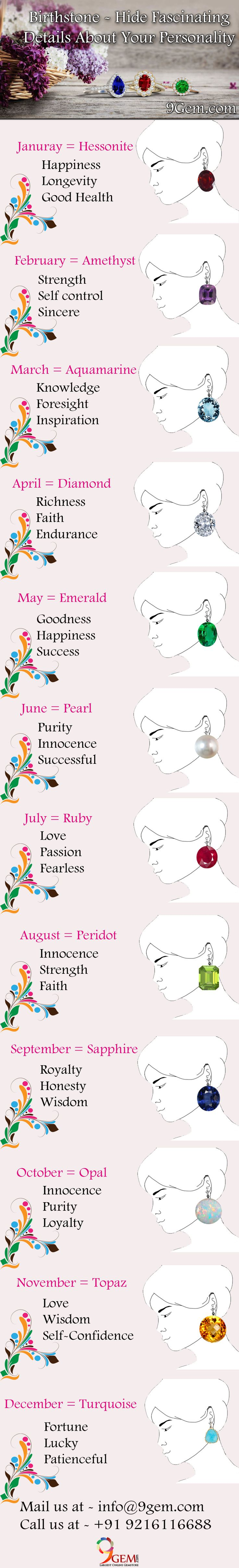 Everybody in the world has a birthstone according to their birth month. Each month is associated with its individual gemstone and each gemstone has its own meaning and symbolism.  So let's check out  what does your gemstones reveal about you?