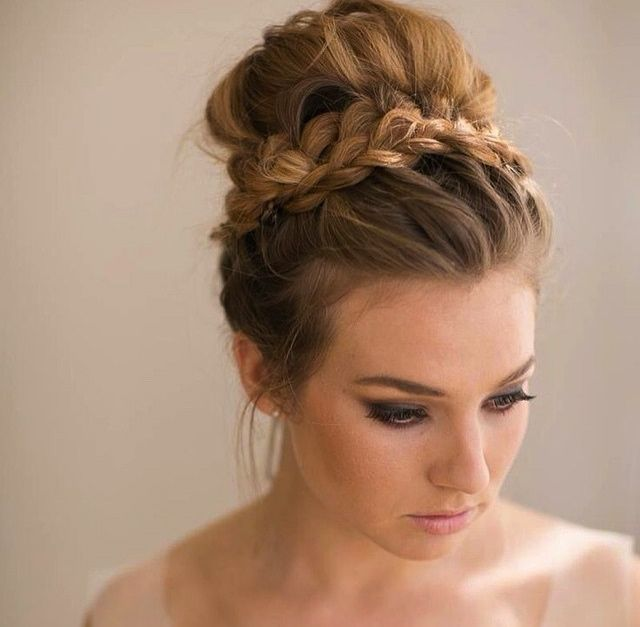 braided hair in a bun