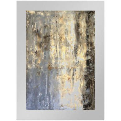 Brown And Grey Abstract Art Painting By T30Gallery, Art On Metal ...