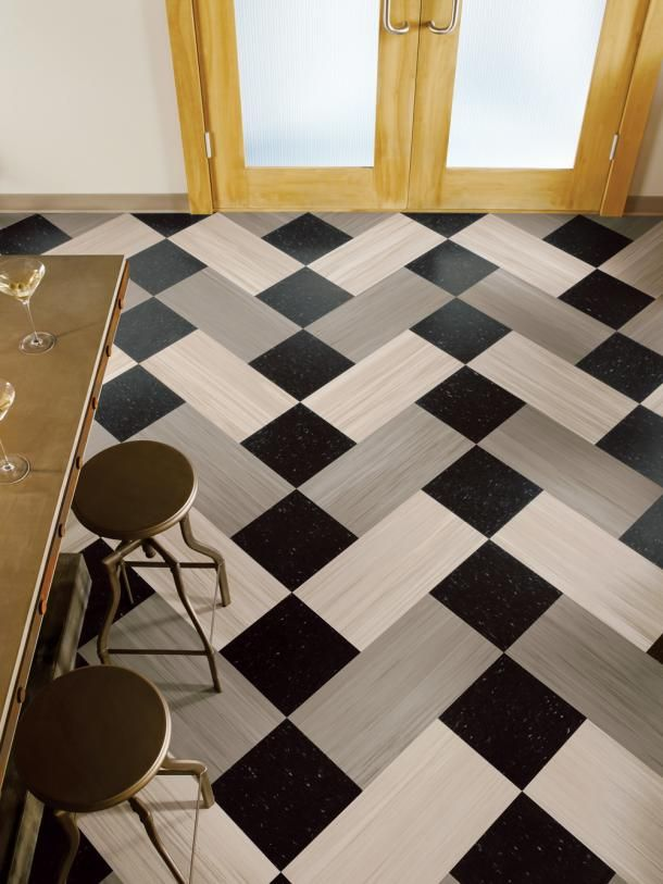 Striations BioBased Tile, from Armstrong Commercial Flooring