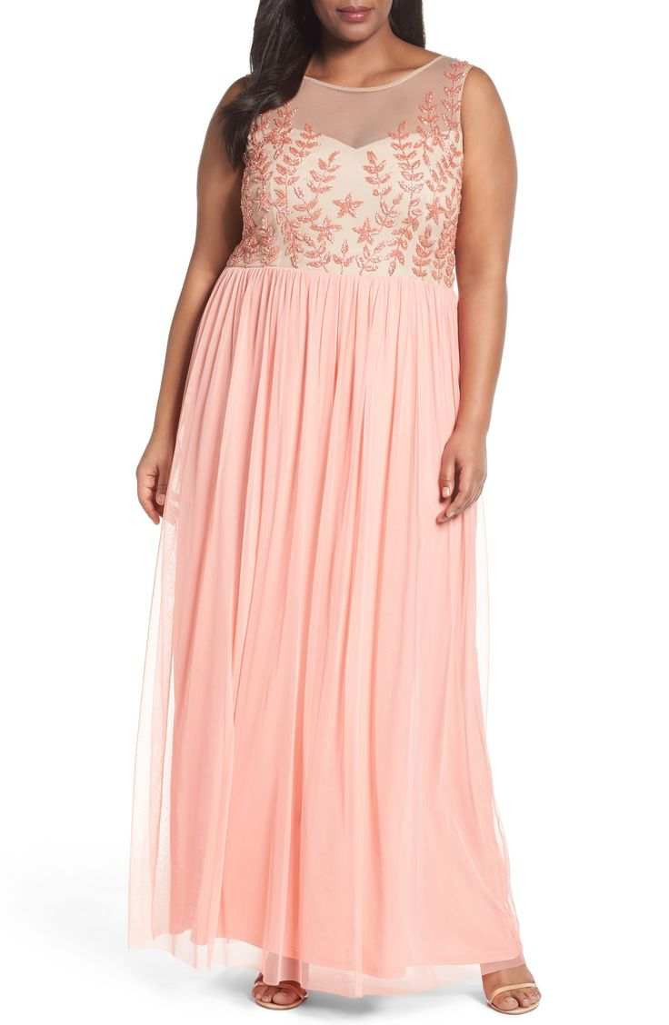 Beaded Pink Mother of the Bride Dresses