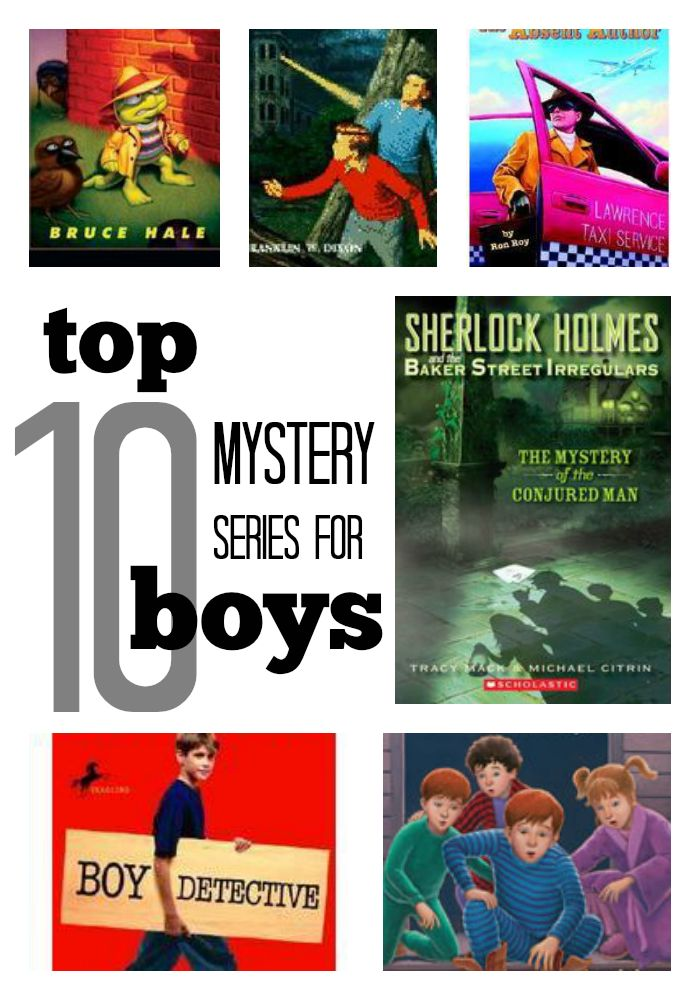 10 Best Mystery Series for Boys These top mystery series for boys feature males cracking the case!   what do you think? would your boys dig these mysteries? @scholastic