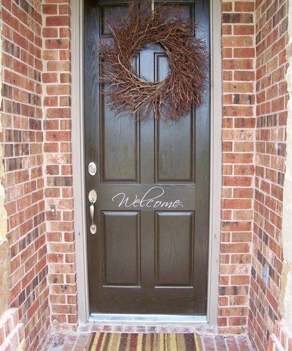 11 Gorgeous Front Door Renovation Ideas & Best 20+ Welcome door ideas on Pinterest   Door signs Welcome ... Pezcame.Com