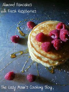 Almond Pancakes with Fresh Raspberries