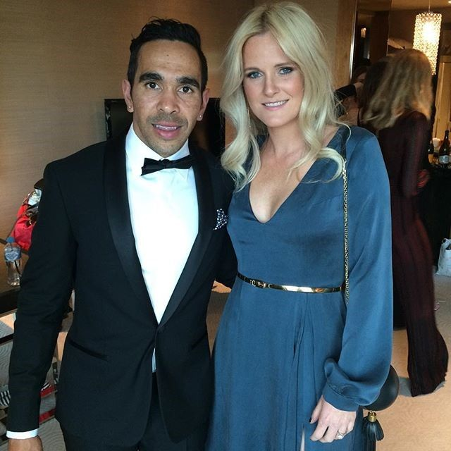 Eddie Betts, Adelaide in the Montgomerie Black Tux: http://www.mjbale.com/mens-suits/tuxedos/montgomerie-black-tux-22612