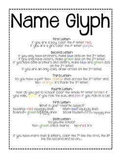 Second Grade with Mrs. Morgan!: Back to School/Name Glyph