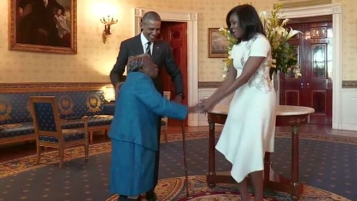 Virginia McLaurin fulfilled her dream of visiting the White House and meeting President Barack Obama and his wife Michelle at the grand age of 106.