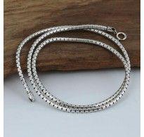 "3 mm Men's Sterling Silver Snake Chain 20""-24"""