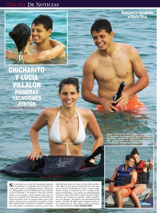 Lucía Villalon y Chicharito Hernandez en la revista Hola