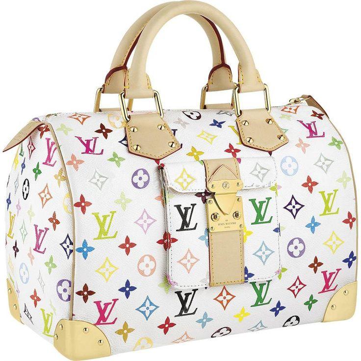 Louis Vuitton M92643 Handbag Speedy 30 White