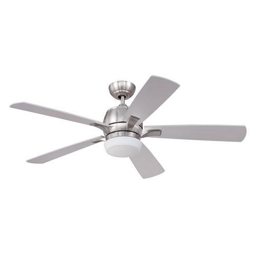Pulsar Stainless Steel Three-Light Ceiling Fan