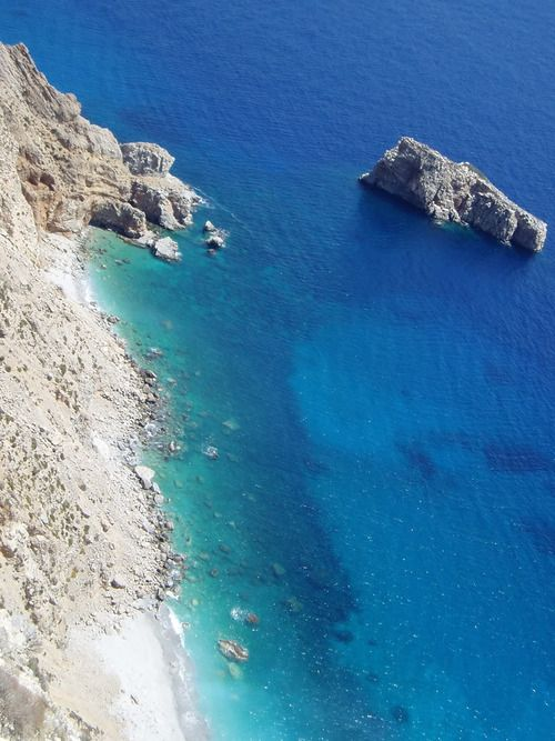 The turquoise waters of Amorgos island, Greece. Paradise...