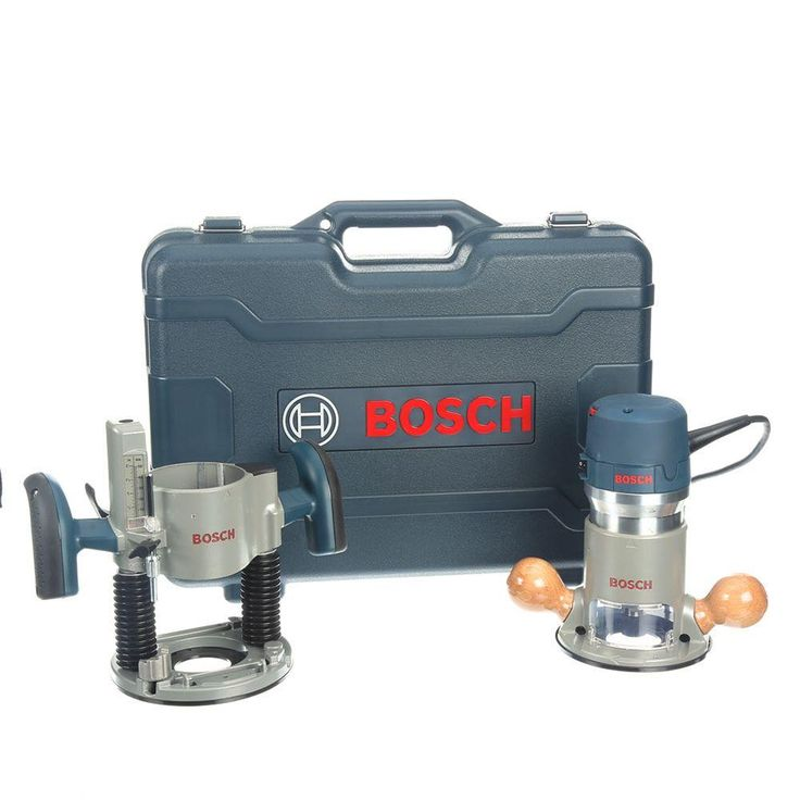 Bosch 12 Amp Corded 3-1/2 in. Variable Speed Plunge and Fixed-Base Router Kit with Hard Case (12 Accessories)