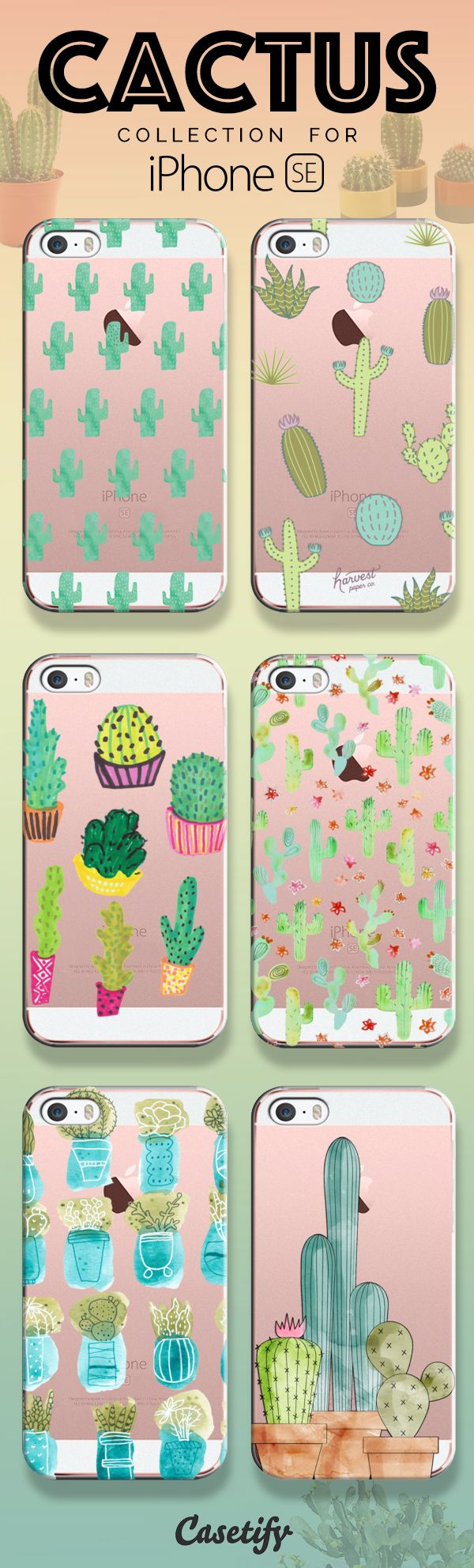 Prickly on the outside, Soothing on the inside. Take a look at our cactus collection for the new iPhone SE now! https://www.casetify.com/search?keyword=cactus | @casetify