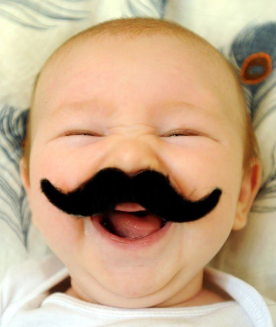 Babies Help Celebrate Movember! Click through for the cutest gallery ever.