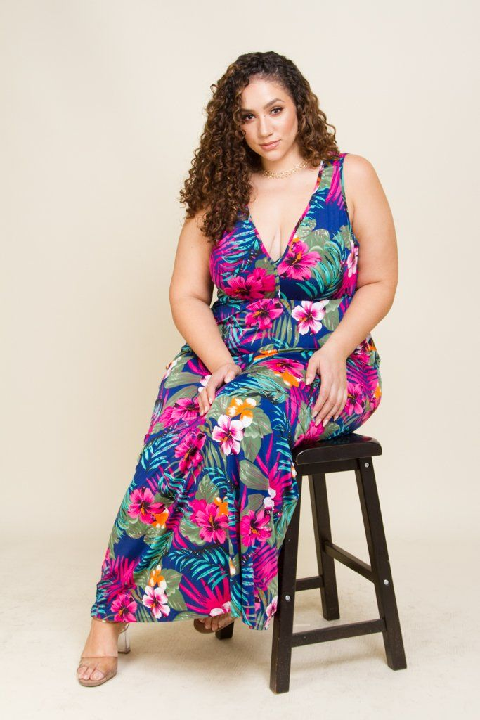 Plus Size Hawaiian Floral Maxi Dress | Hawaiian dress in 2019 ...