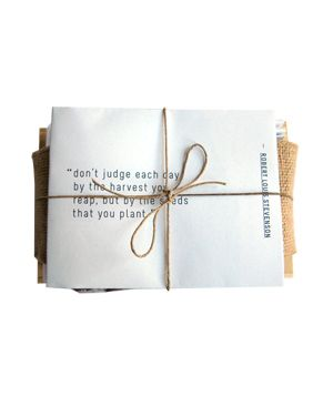 Heirloom Seed Kit in Wooden Box #gifts: Gifts Ideas, Seeds Packets, Handwritten Letters, Wooden Boxes, Encouragement Gifts, Cool Gifts, Letters Writing, Plants Seeds, Don'T Judges