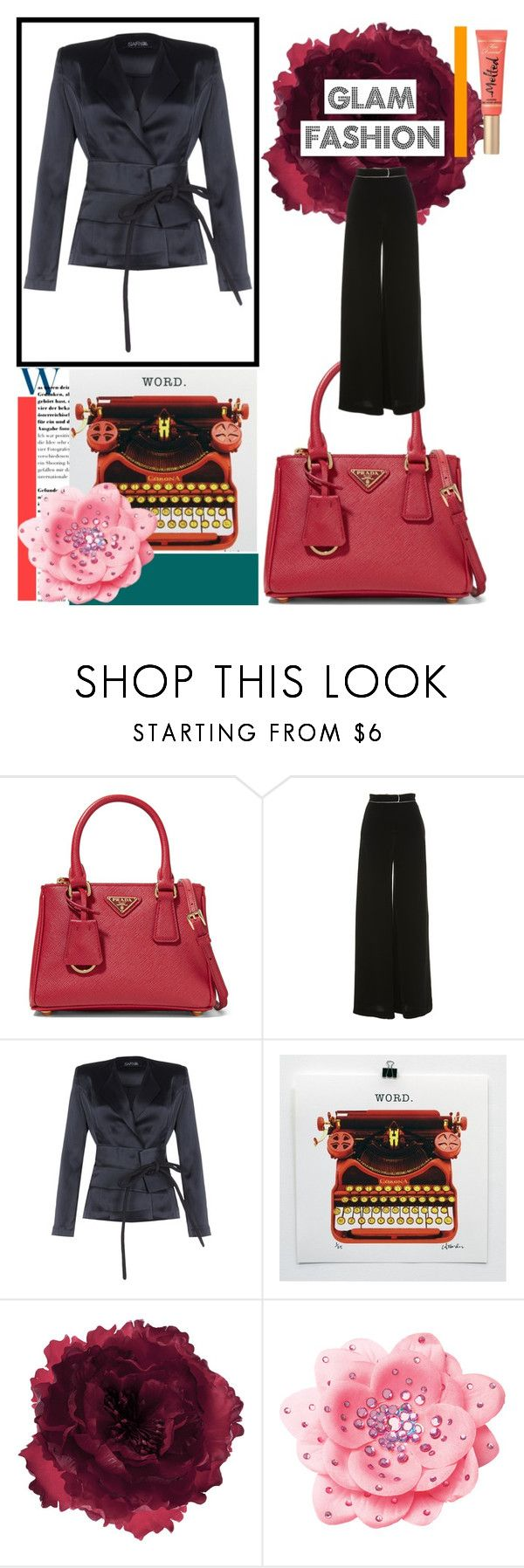 """""""A Japanese Form At Work"""" by osmianannya ❤ liked on Polyvore featuring Prada, Martin Grant, Safiyaa, Accessorize, jacket and trousers"""