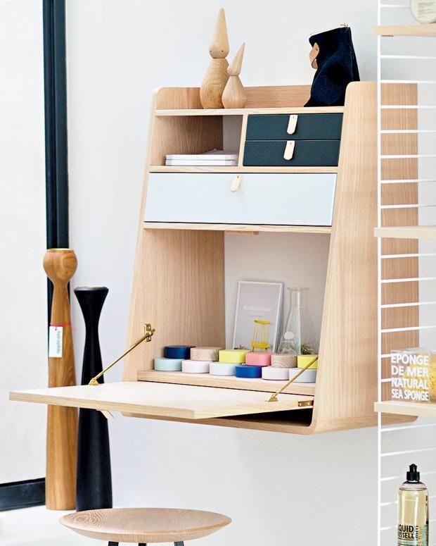 Bureau Pliable Pour Petit Espace 10 Meubles Design A Petit Prix Clematc Bureau Pliable Bureau Mural Rabattable Bureau Pliant