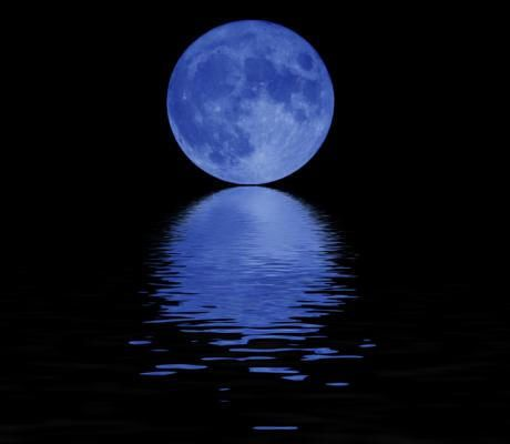 Just once in a very blue moon, just once.
