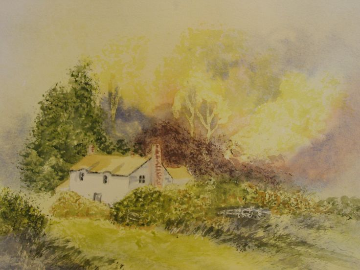 Country Cottage 12 x 16 Water colour by      C Walters