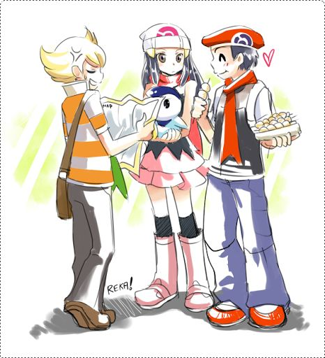 Pokemon Dawn: Pokemon Dawn And Barry - Google Search