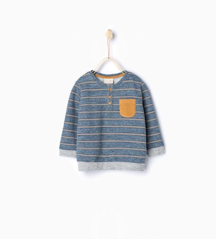 ZARA - NEW IN - Striped sweatshirt with pocket