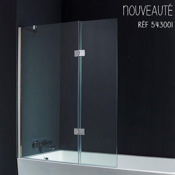 En plus d'être fonctionnel, le pare-baignoire peut être un élément discret, design et tendance. #planetebain #parebaignoire #baignoire