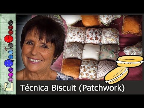 Cómo hacer la Técnica Biscuit (Patchwork) [Tutorial] - YouTube