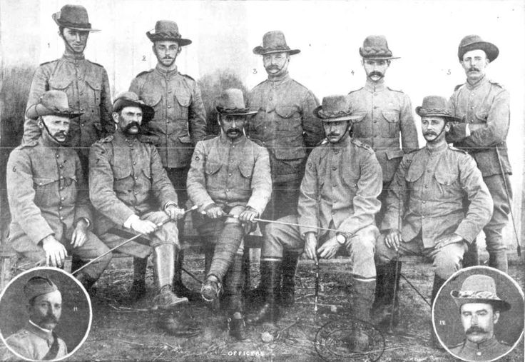 Officers of the Victorian Bushmen Corps 1900