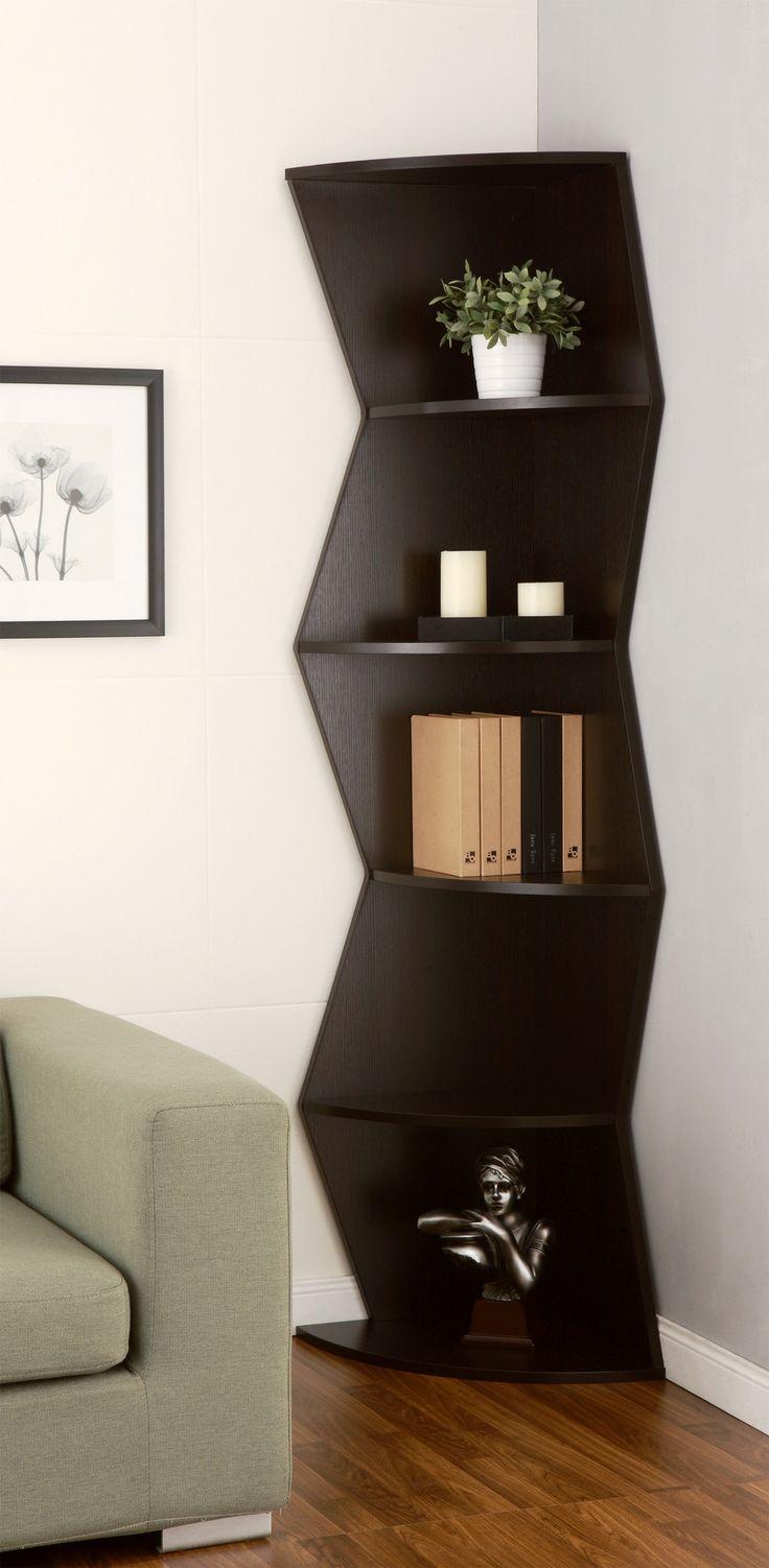 modern corner furniture. Furniture Of America Jaggi Modern Cappuccino Corner Bookcase - Overstock™ Shopping Great Deals On Media/Bookshelves 0