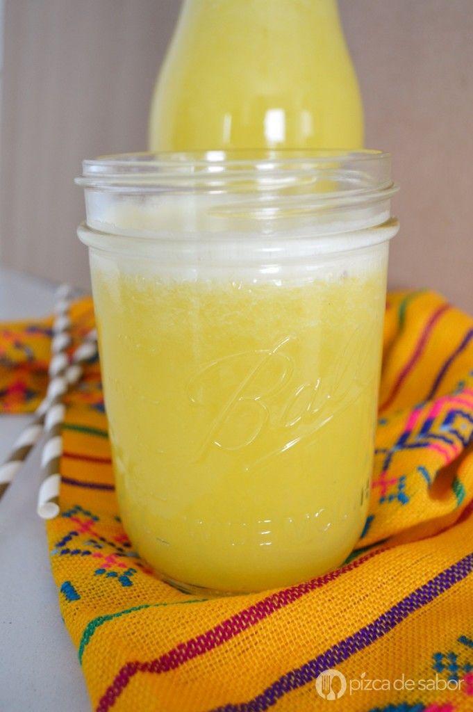 Cómo hacer agua de piña www.pizcadesabor.com