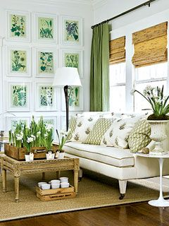 Could I do this in my bedroom? Shades, and the drapes just next to it for decoration?   Sorry, Folks, I think Green Plants are my designs du jour. Love the natural, window shades too, we use these often when decorating for our clients. www.plantagenetrose.com