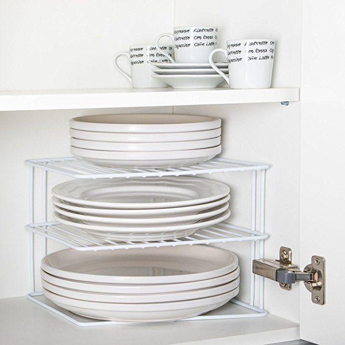 corner add a shelf plate rack kitchen storage idea cupboard organiser afflink kitchen storage kitchen cupboard shelves kitchen cupboard storage pinterest